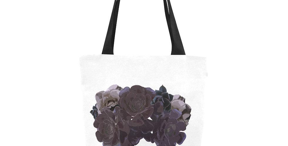 Succulent Roses White - Tote Bag