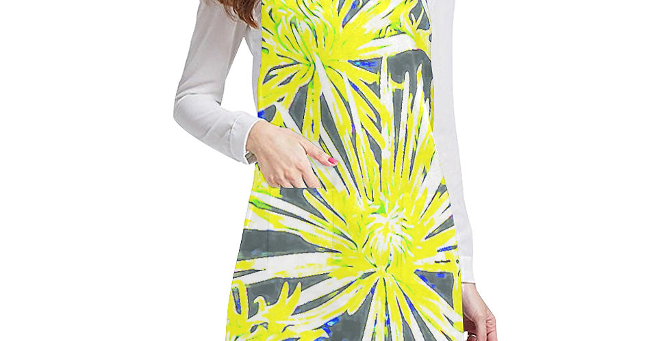 Yellow Chrysanthemums Apron - Adjustable