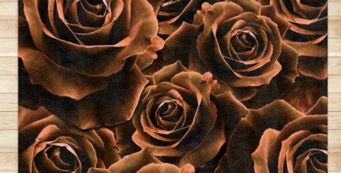 Velvet Roses Chocolate - Rug & Runner