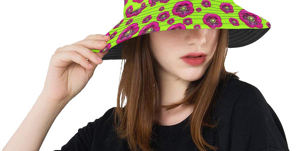 Flower Power - Green / Purple - Bucket Hat