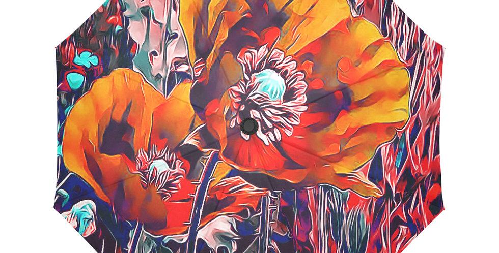 Meadow Poppies Autumn - Botanical Umbrella