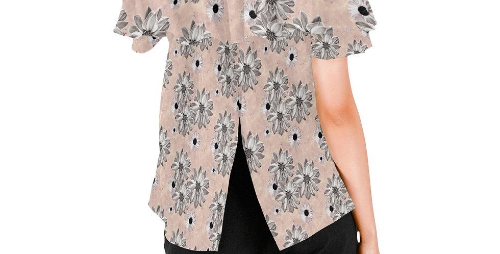 Floral Blush - Women's Chiffon Blouse