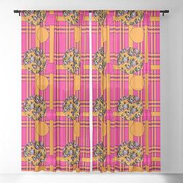 tartan-poppies-orange-pink-pattern-sheer