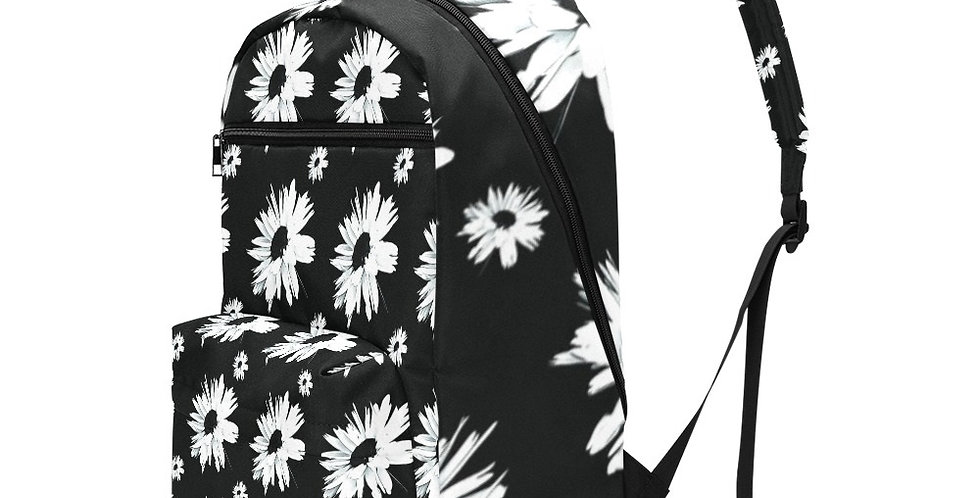 Bunch of Daisies Black & White - Travel Backpack (Large Capacity)