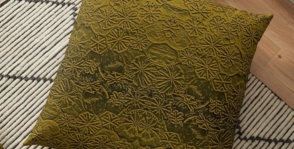 Metallic Poppies Copper - Cushion Cover