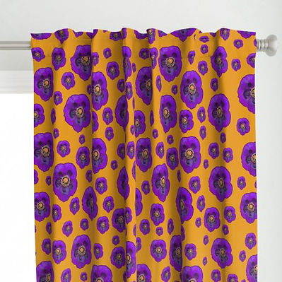 10203216-flower-power-orange-purple-by-p
