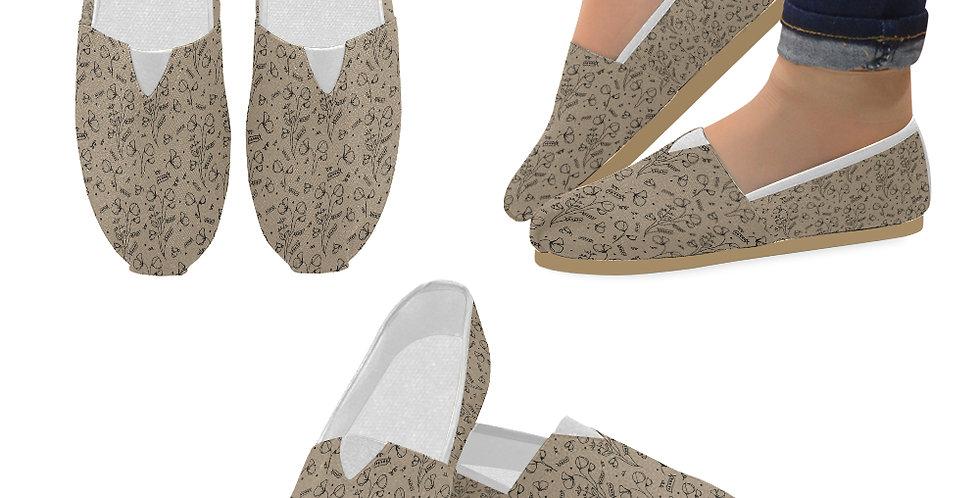 #sweetpealust Rustic Sweet Pea - Slip On Canvas Shoes