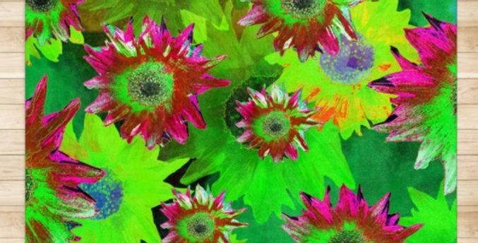 Strawflower Sizzle - Green - Rug & Runner