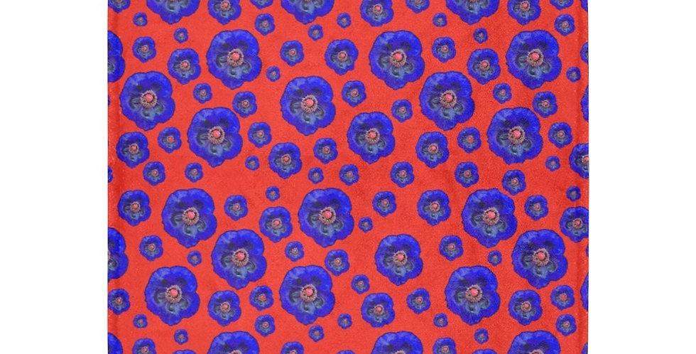 Flower Power Red/Blue - Blanket