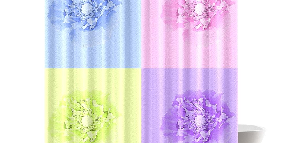 Pastel Poppies - Shower Curtain