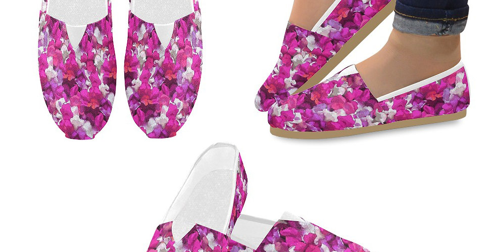 Snappy Pink - Slip On Canvas Shoes