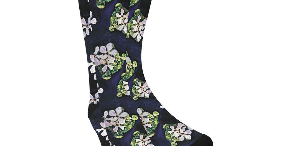 Cyclamen Swirl - Unisex Socks (Made in Australia)