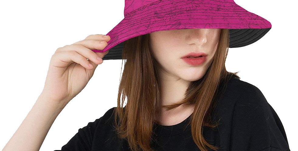 Embossed Floral Deep Pink - Bucket Hat