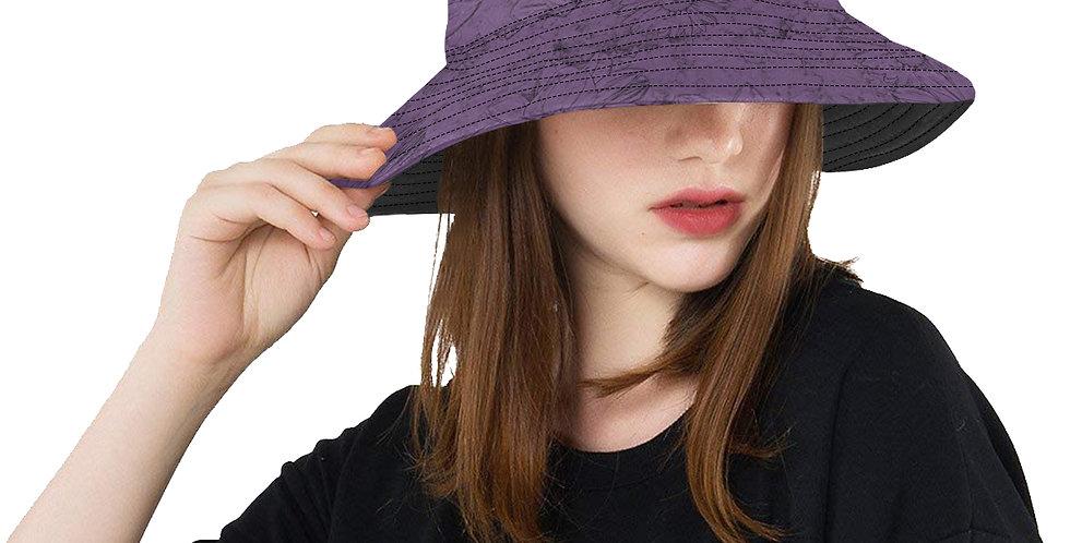 Embossed Floral Purple - Bucket Hat