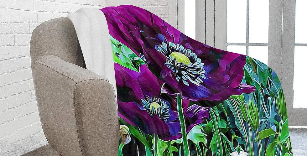 Meadow Poppies Spring - Blanket