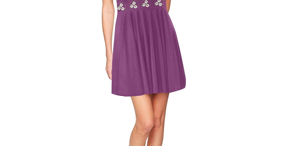 Purple Nasturtium - Skater Dress