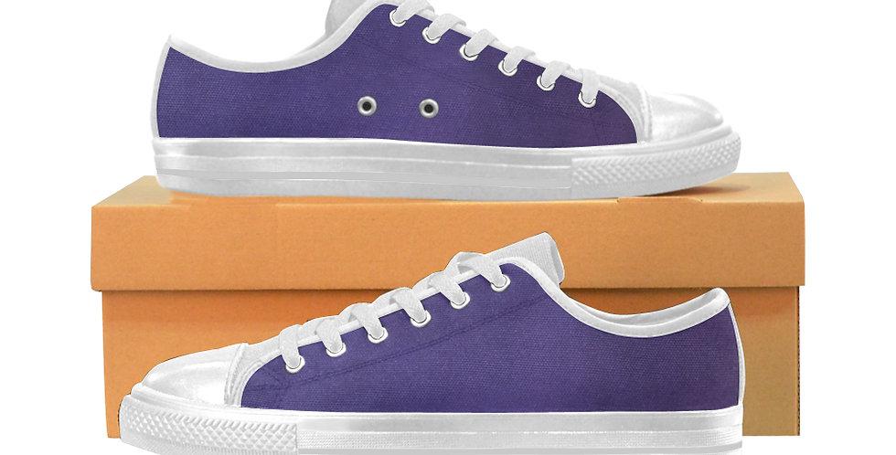 Rainbow Iris Purple - Women's Canvas Sneakers
