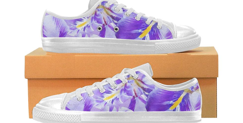 Winter Iris - Women's Canvas Sneakers