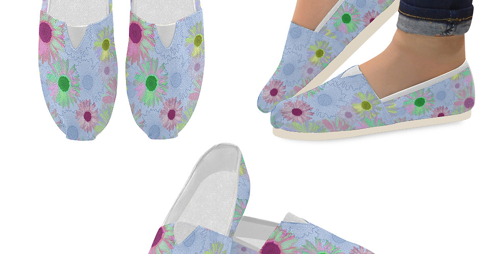 Wildflower Floral - Slip On Canvas Shoes