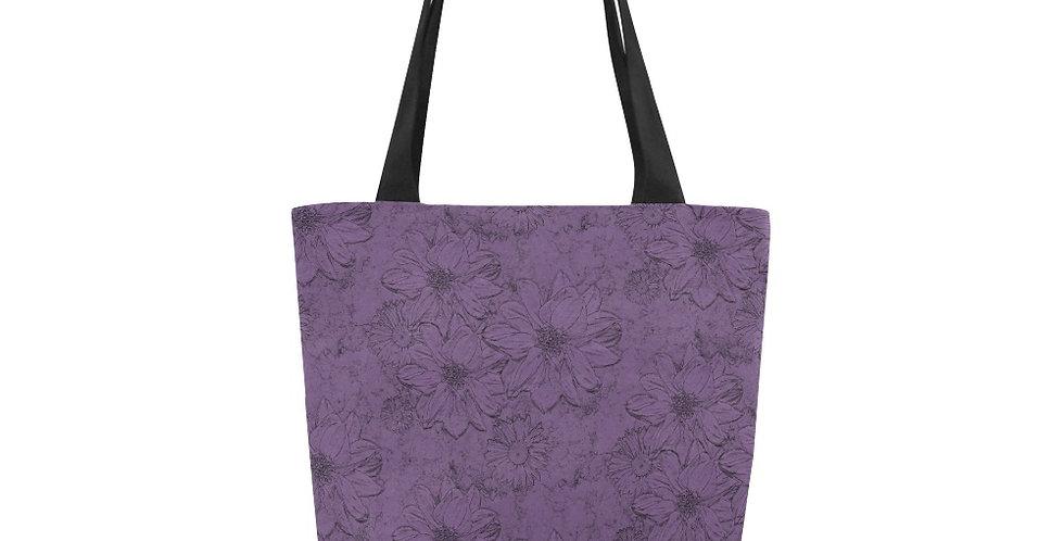 Embossed Floral Purple - Tote Bag