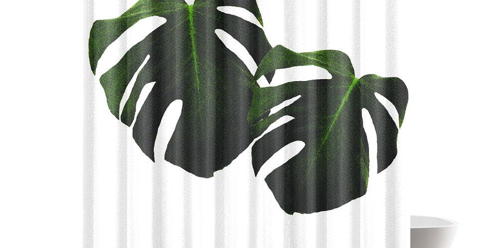 Monstera Leaves - Shower Curtain