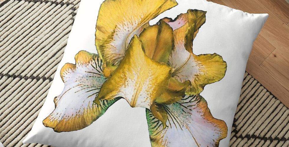 Rainbow Iris - Yellow - Cushion Cover