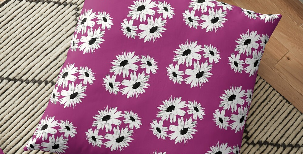Bunch of Daisies Pink (small print) - Cushion Cover