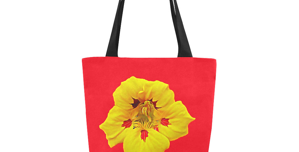 Ladybug Nasturtium Single Flower - Tote Bag