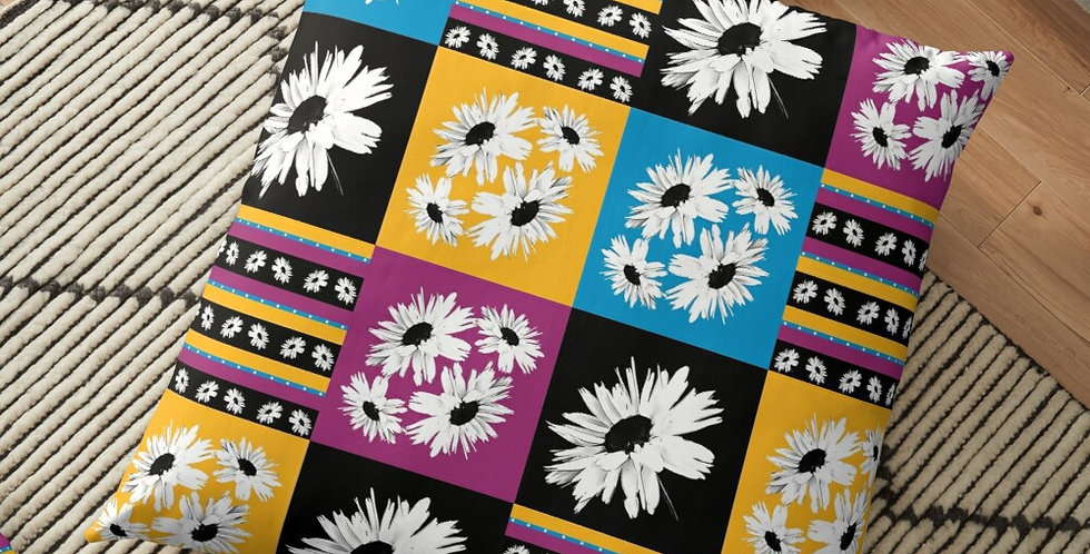 Bunch of Daisies Patchwork - Cushion Cover