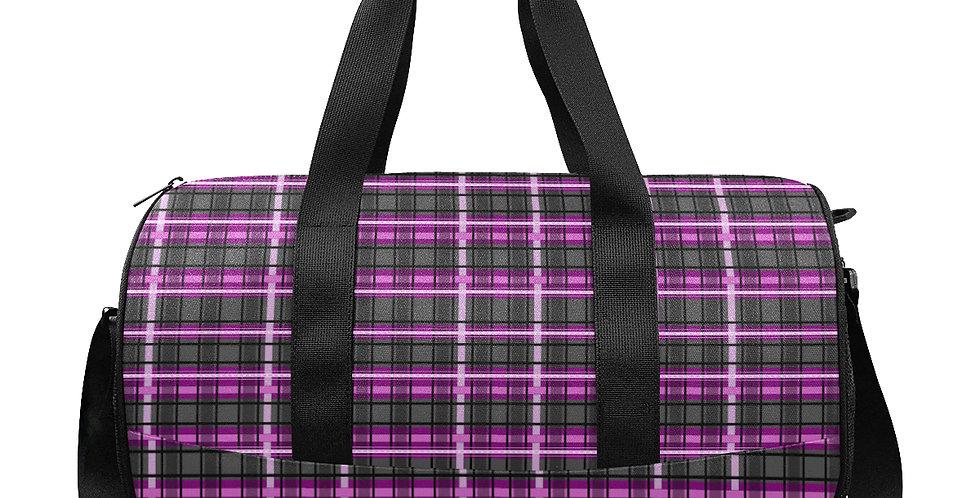 Tartan Terror Pink / Black - Gym / Workout / Camping / Travel Duffel Bag