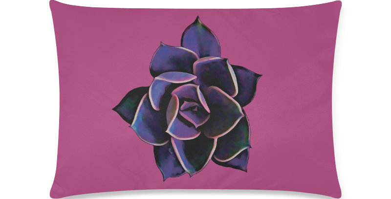 Pink Succulent - Cushion Cover