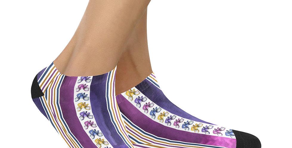 Rainbow Iris Stripes - Ankle Socks