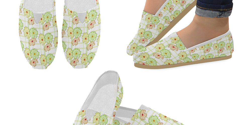 Summer Floral - Slip On Canvas Shoes