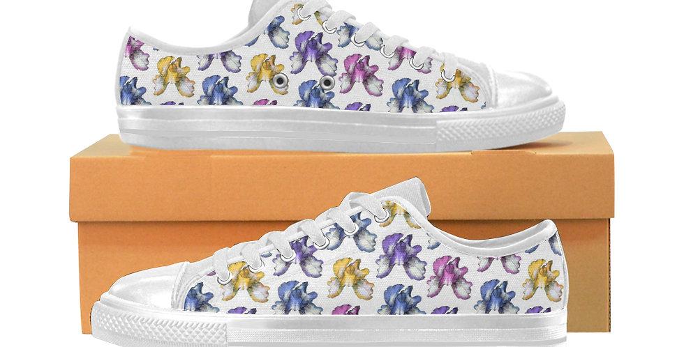 Rainbow Iris - Women's Canvas Sneakers