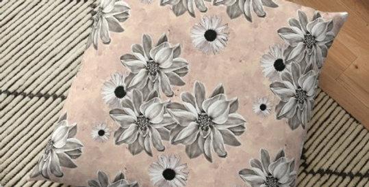 Floral - Blush - Cushion Cover