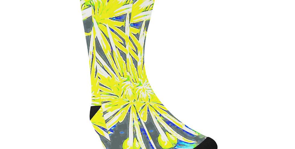 Yellow Chrysanthemums - Unisex Socks (Made in Australia)