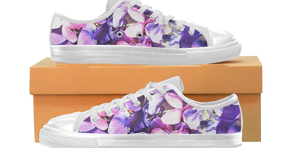 Wild Violets - Women's Canvas Sneakers