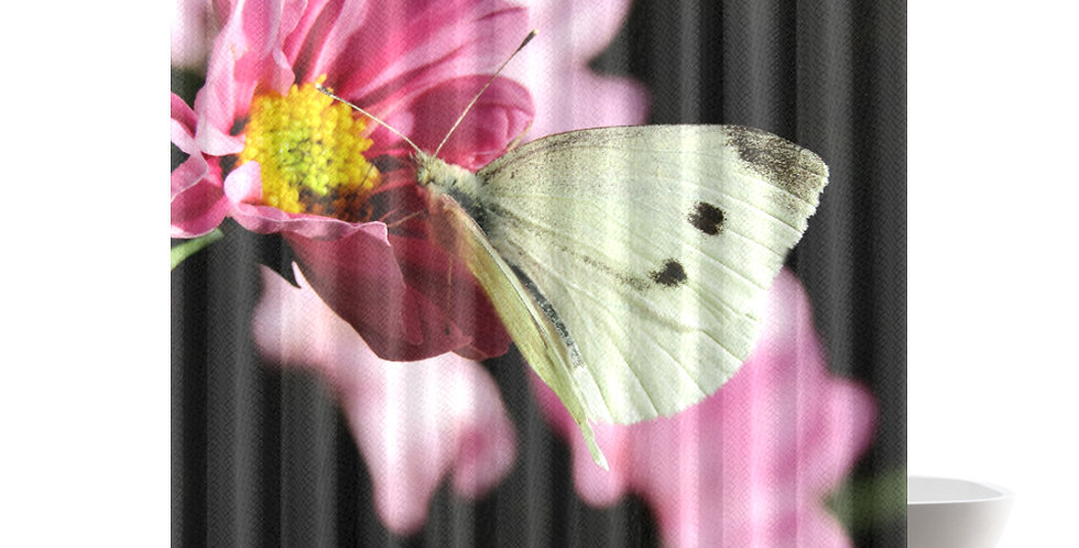 White Butterfly - Shower Curtain