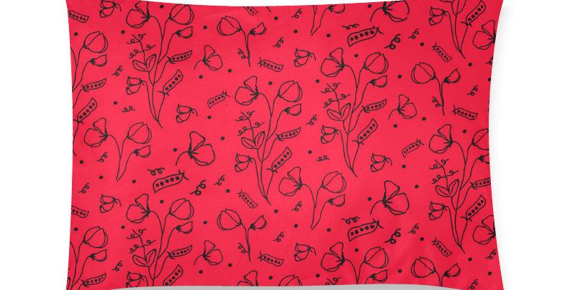 #sweetpealust red/black - Cushion Cover