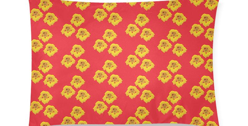 Ladybug Nasturtium (small print) - Cushion Cover