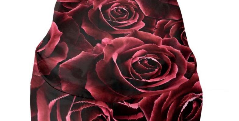 Velvet Roses Red - Bean Bag Cover