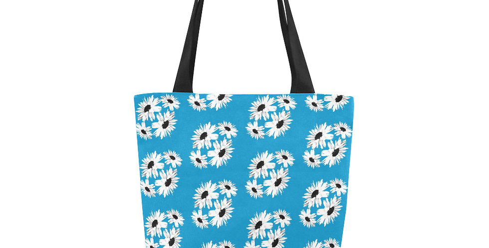 Bunch of Daisies Blue (small print) - Tote Bag