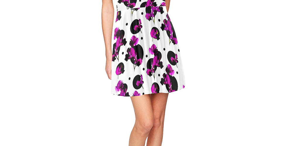 Sweet Pea Passion - Skater Dress