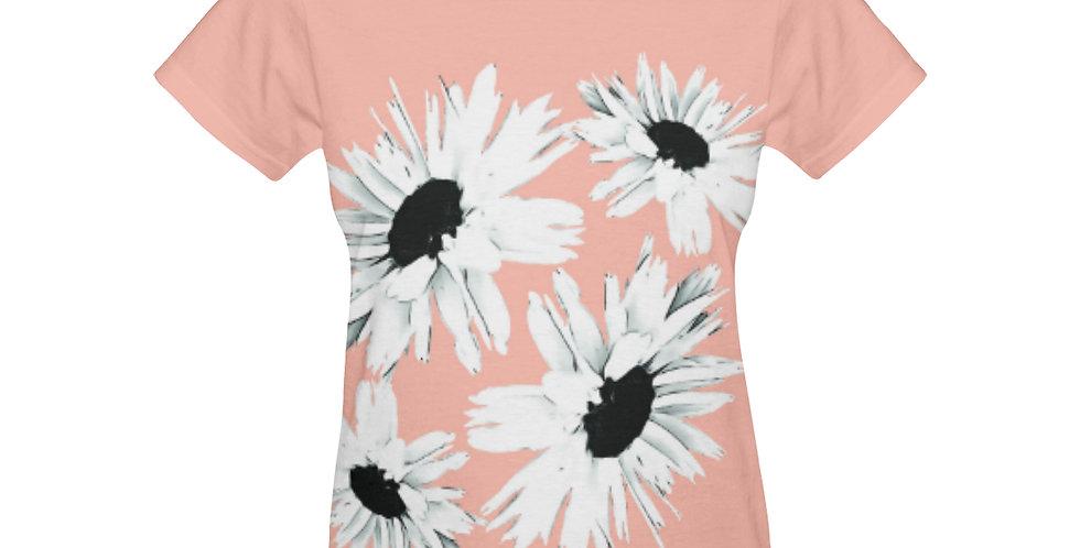 Daisy Love Peach - T-shirt