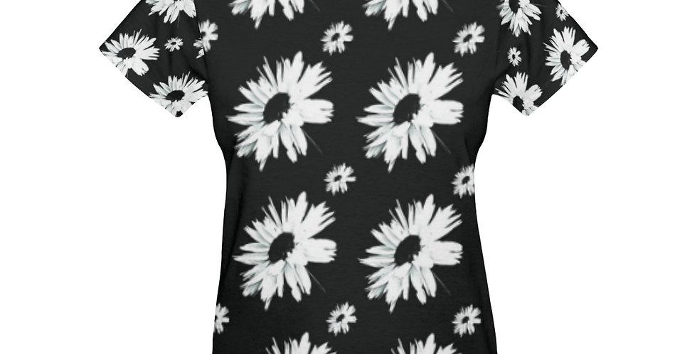 Daisy Love Black (small print) - T-Shirt