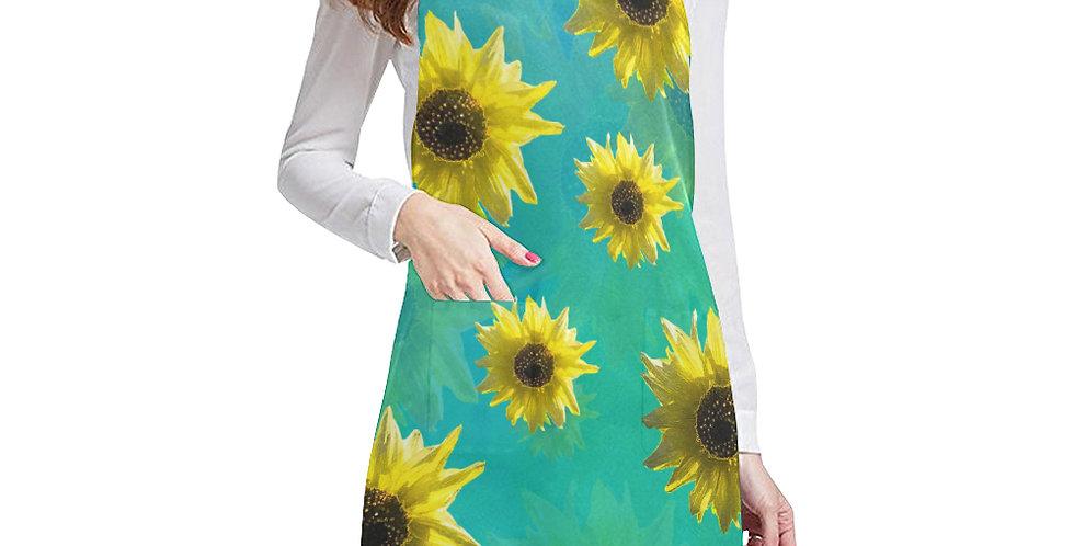 Sunflower - Sunshine On My Shoulder Apron - Adjustable