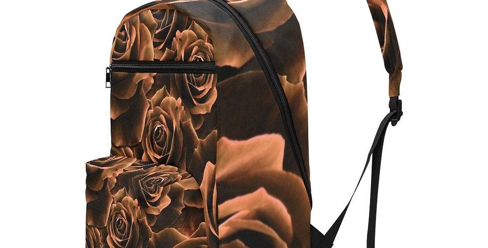 Velvet Roses Chocolate - Travel Backpack (Large Capacity)
