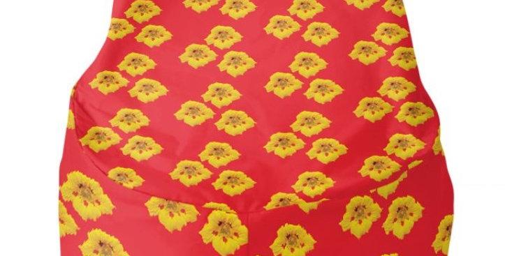 Ladybug Nasturtium - Bean Bag Cover