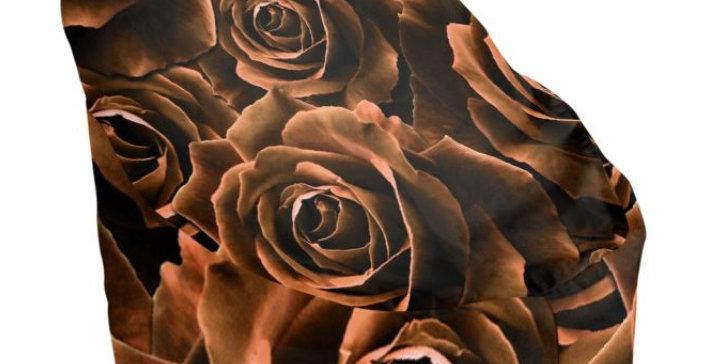 Velvet Roses Chocolate - Bean Bag Cover