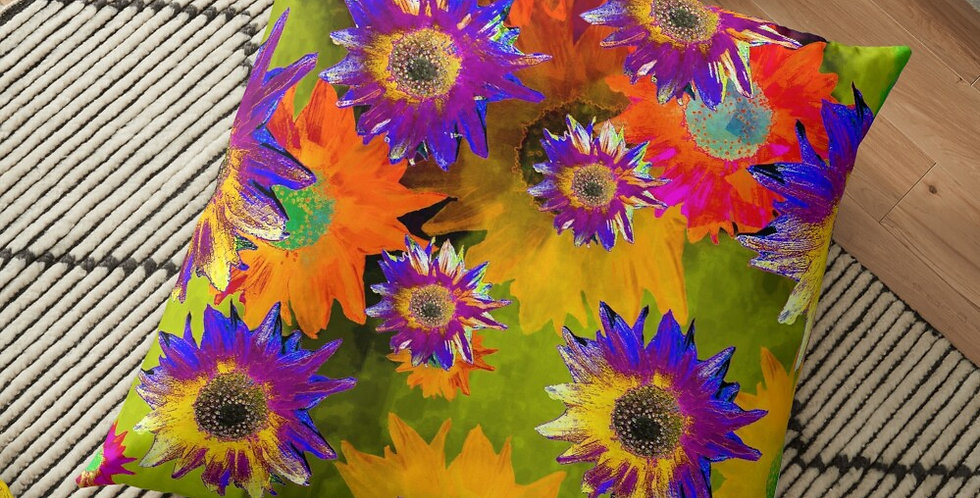 Strawflower Sizzle - Multi - Cushion Cover